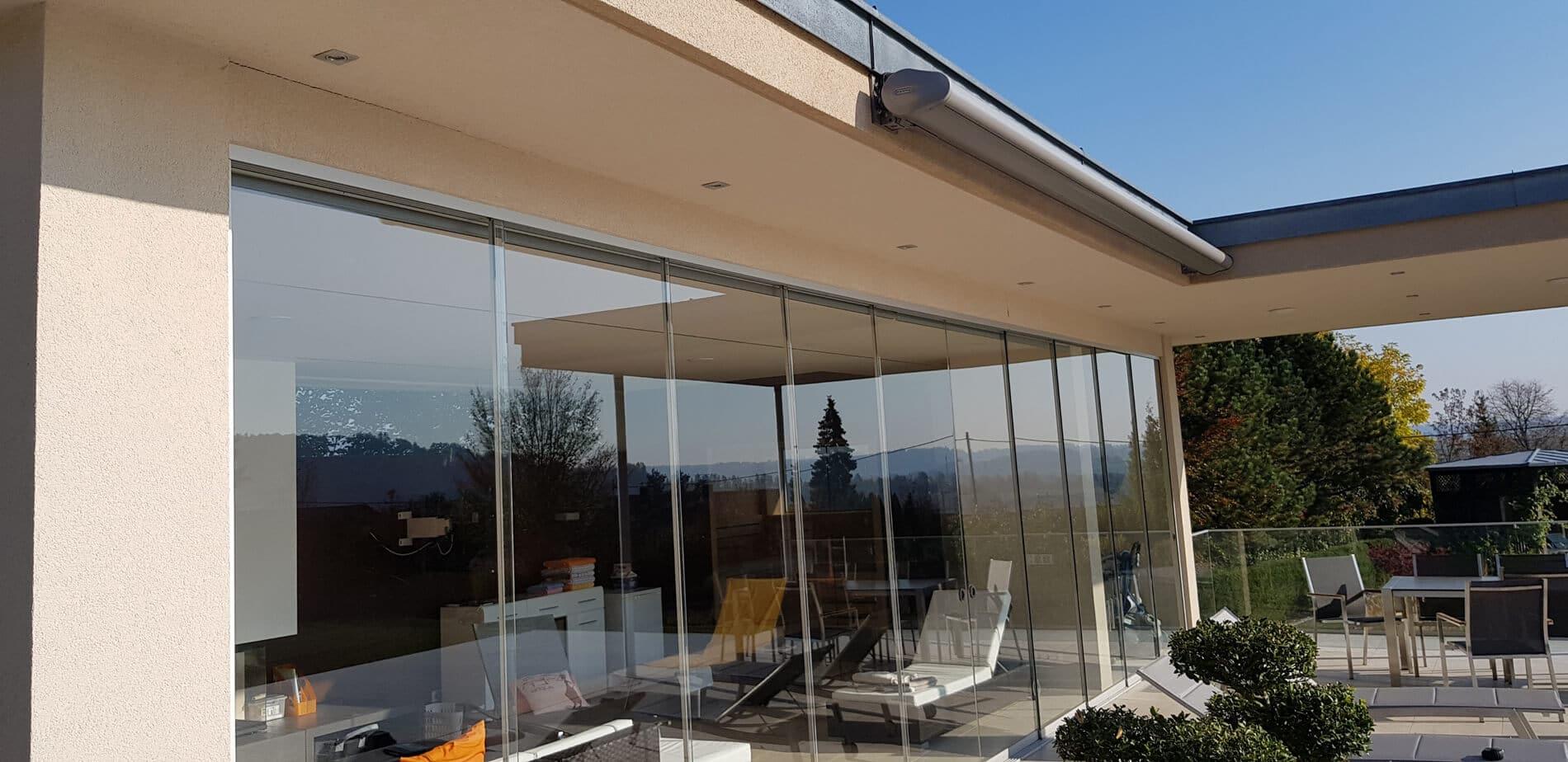 Terrasse Schiebetüren Systeme barrierefrei