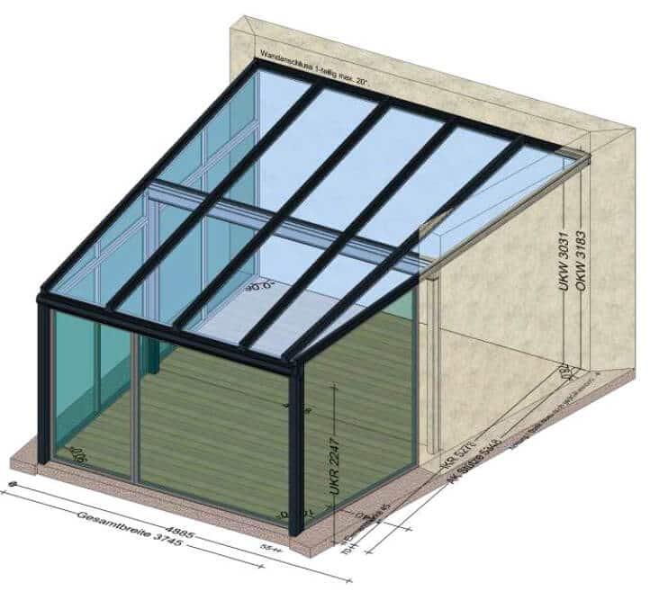 Terrasse umbauen Wintergarten