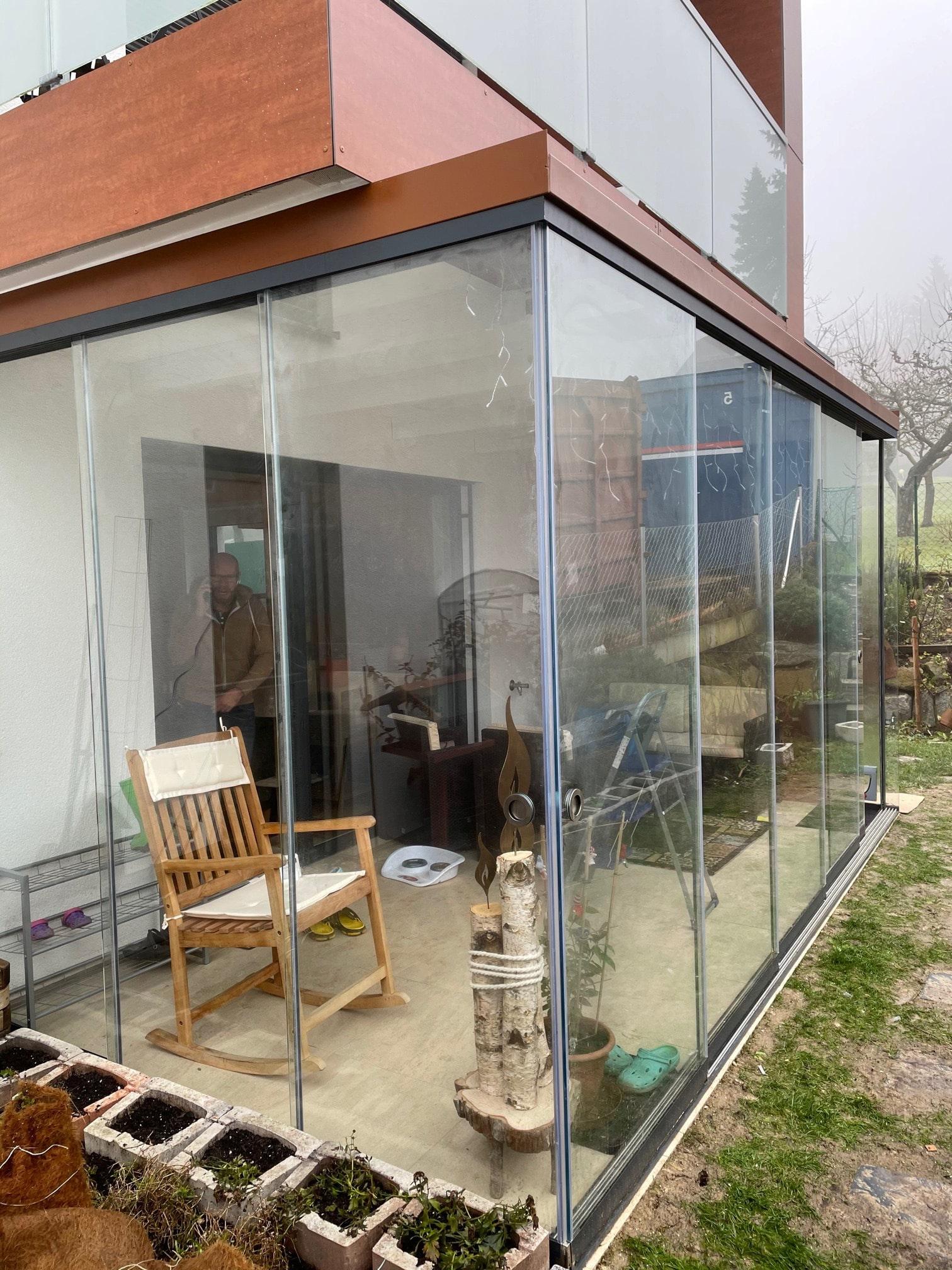 Terrasse zu Wintergarten umbauen in Oberösterreich