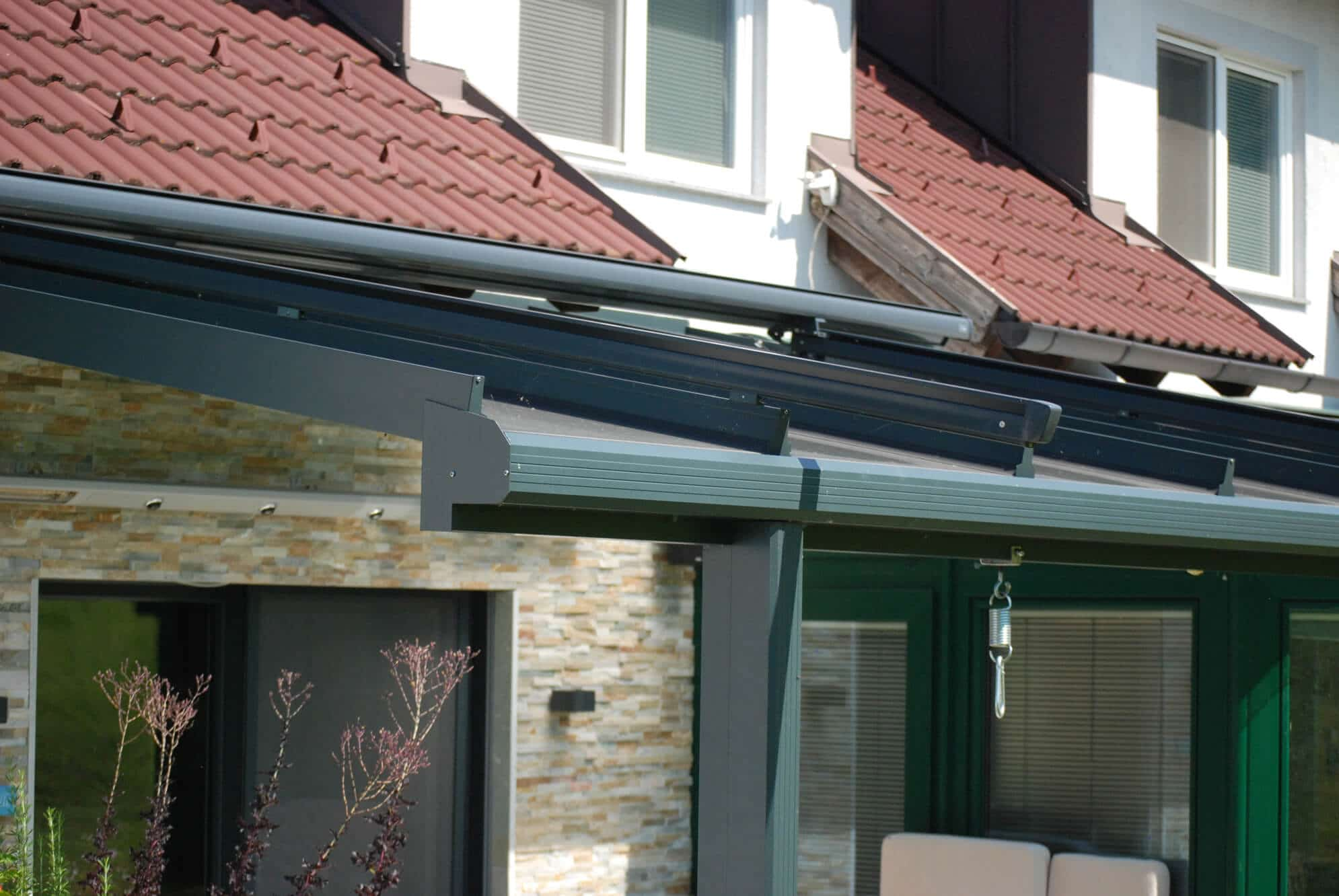 Terrassen Glasdach aus robusten Aluminium