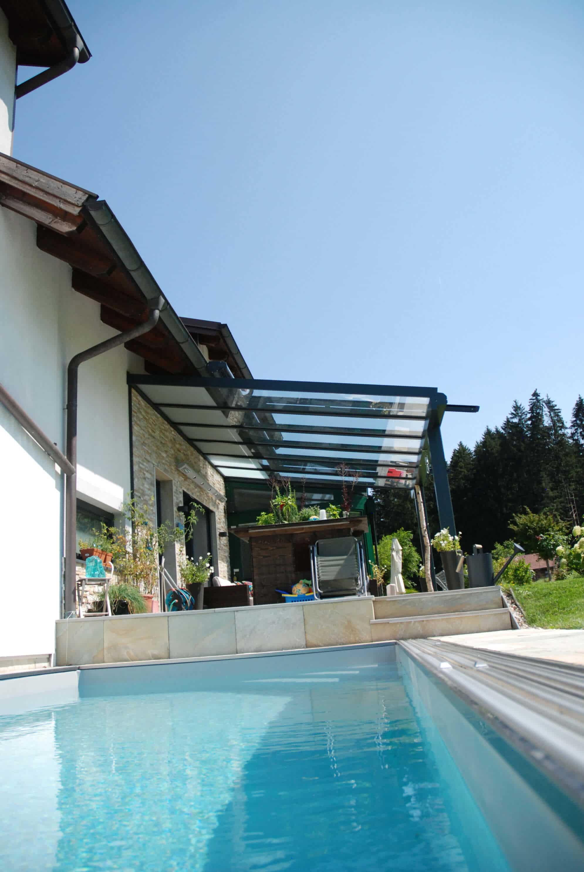Terrassen Glasdach für Oberösterreich