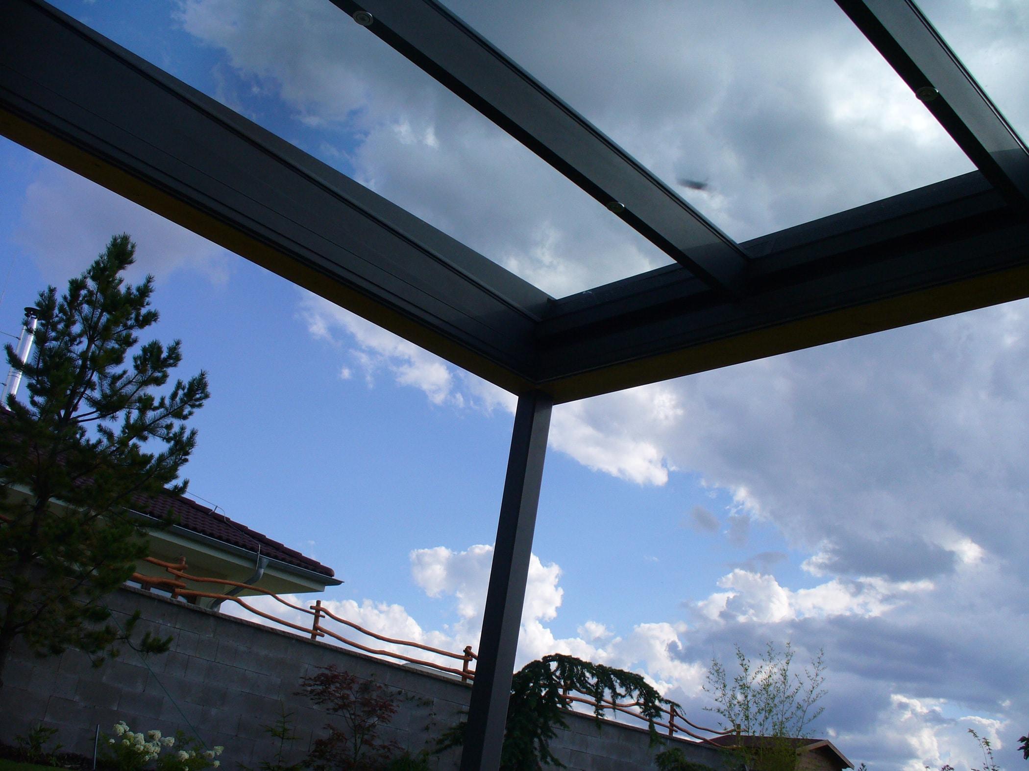 Terrassen Glasdächer mit Echtglas
