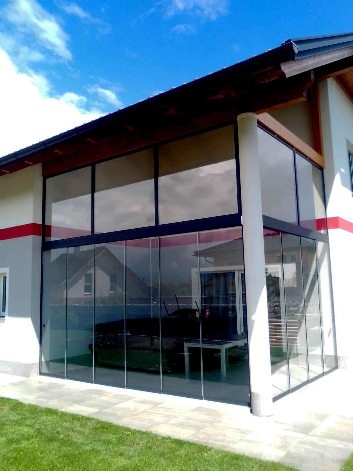 Terrassen Glasschiebeelemente Sonderanfertigung