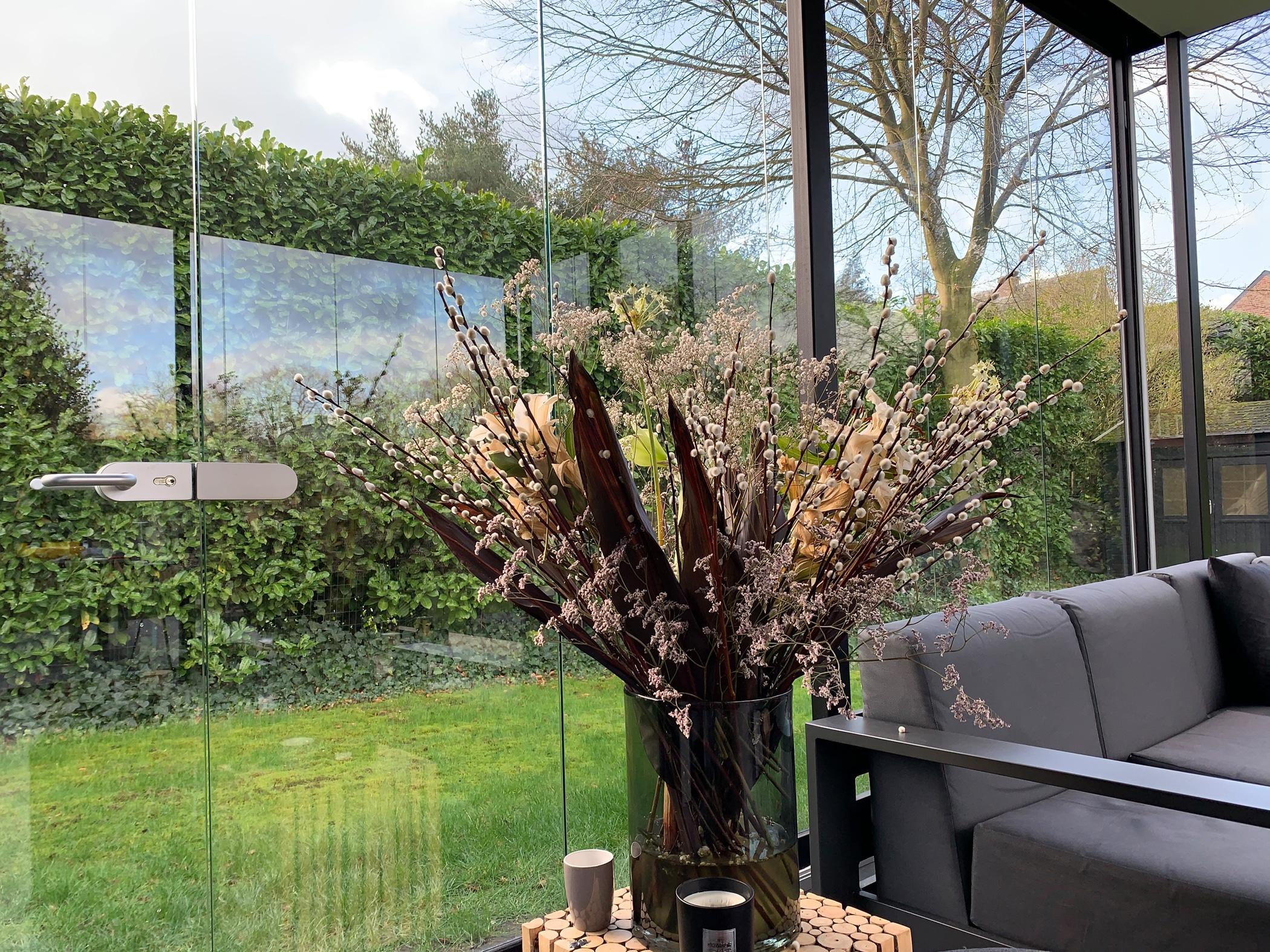 Terrassen Glaswand zum Öffnen