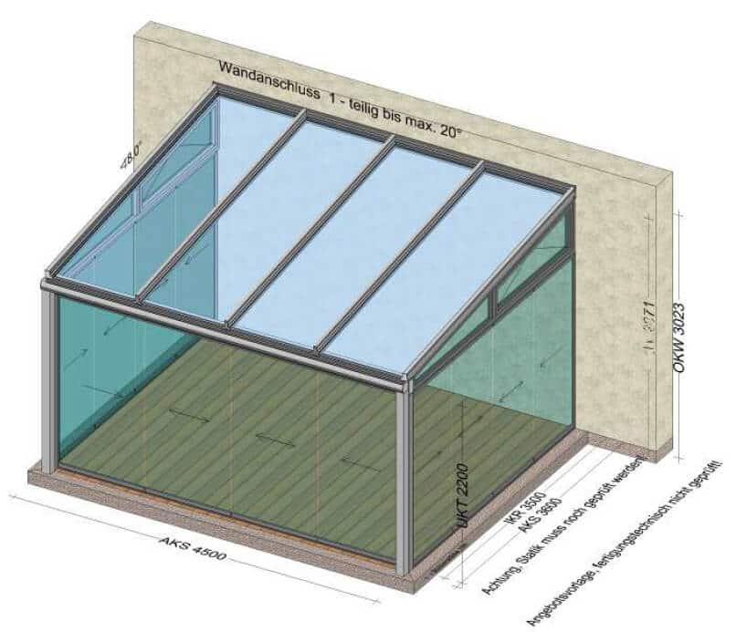 Terrassen-Schiebeglas