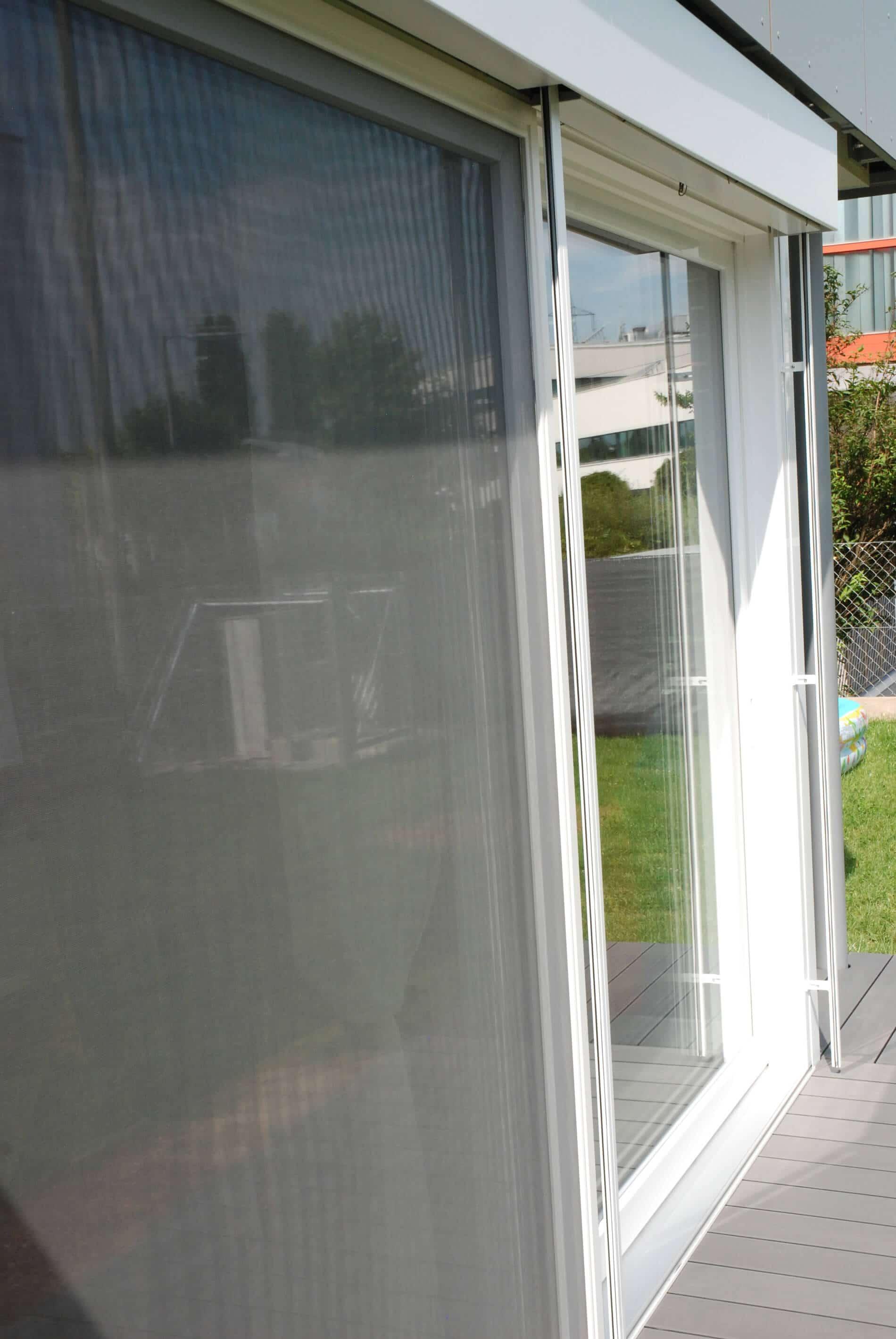 Terrassen-Schiebetür weiß
