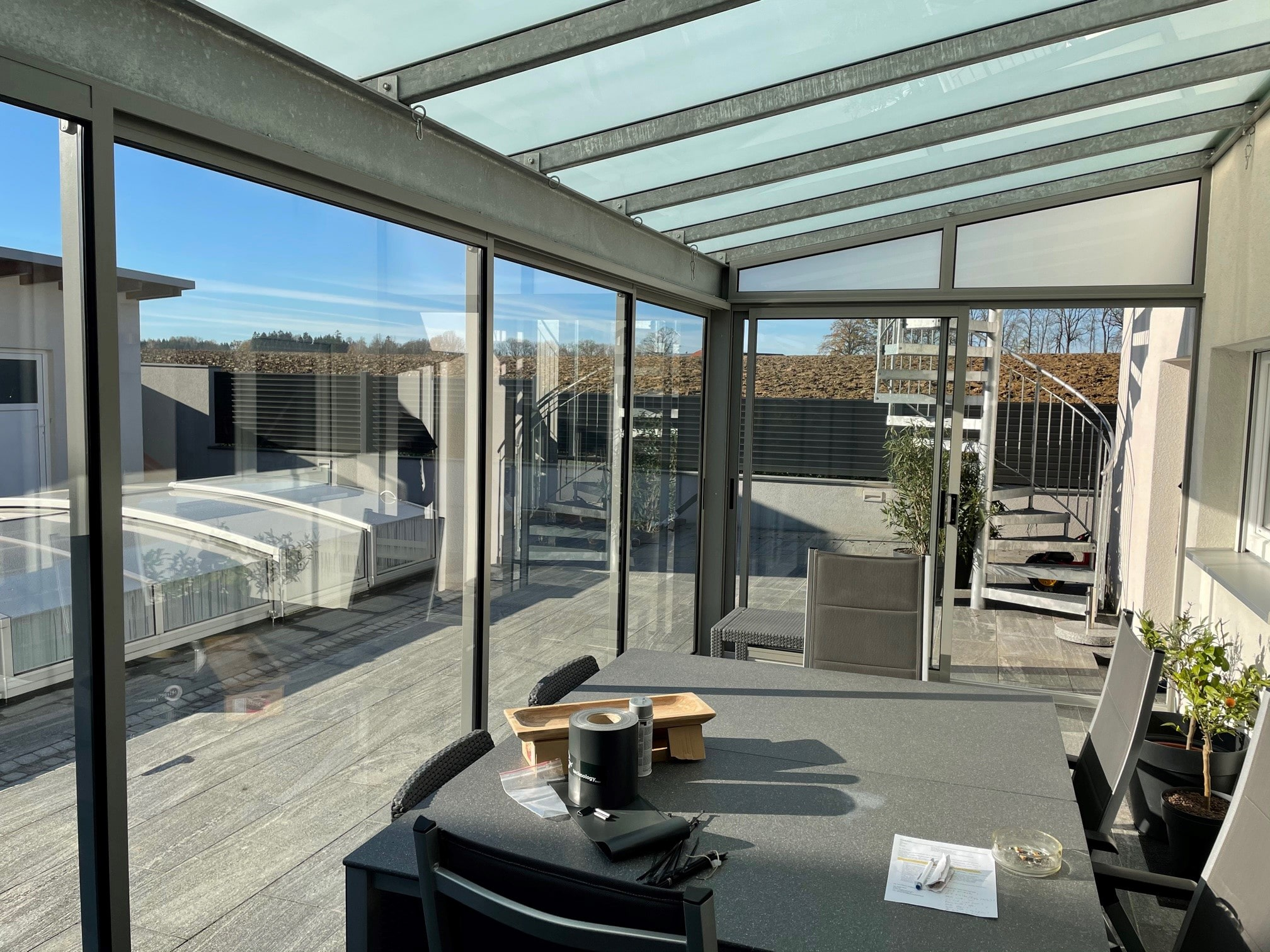 Terrassen Schiebetüren aus Alu