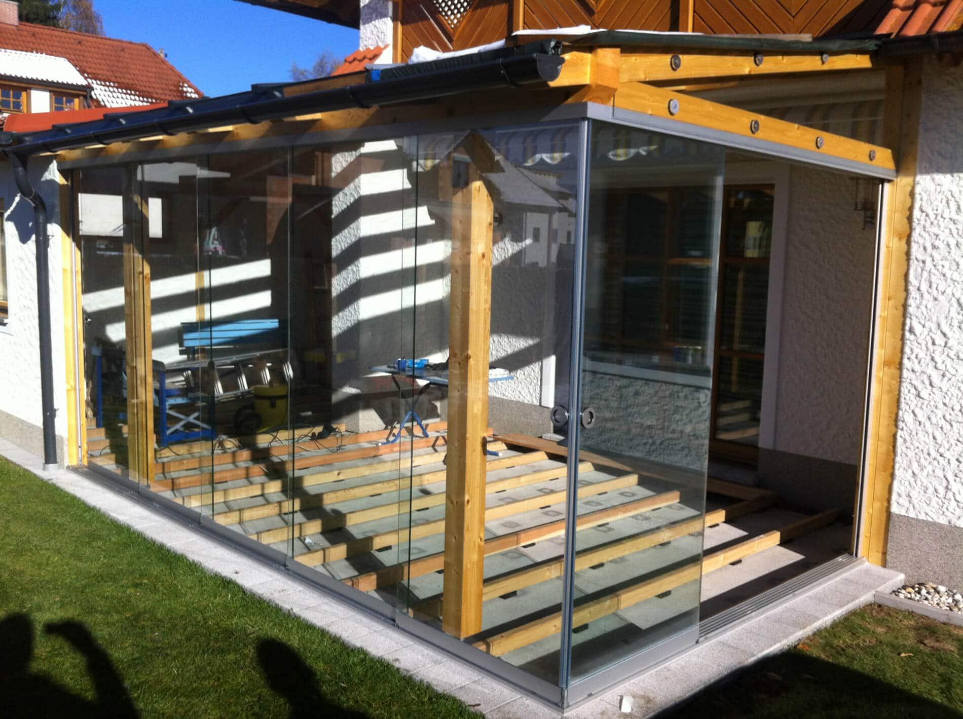 Terrassendach Holz Glas - Wintergarten Schmidinger