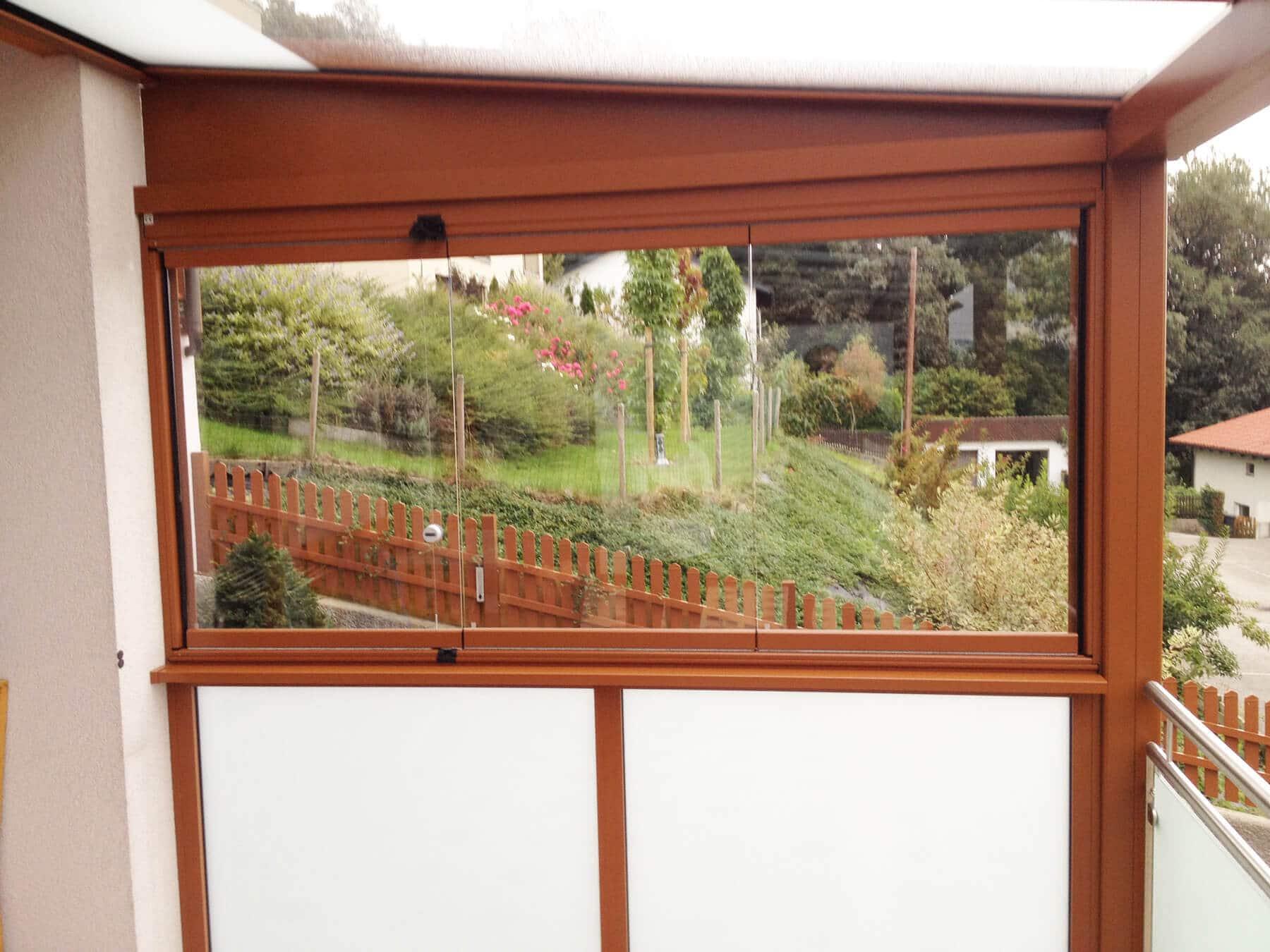 Terrassendach mit Faltwand