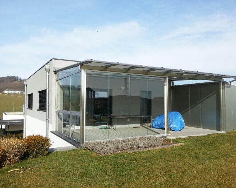 Terrassendach mit Schiebeelemente
