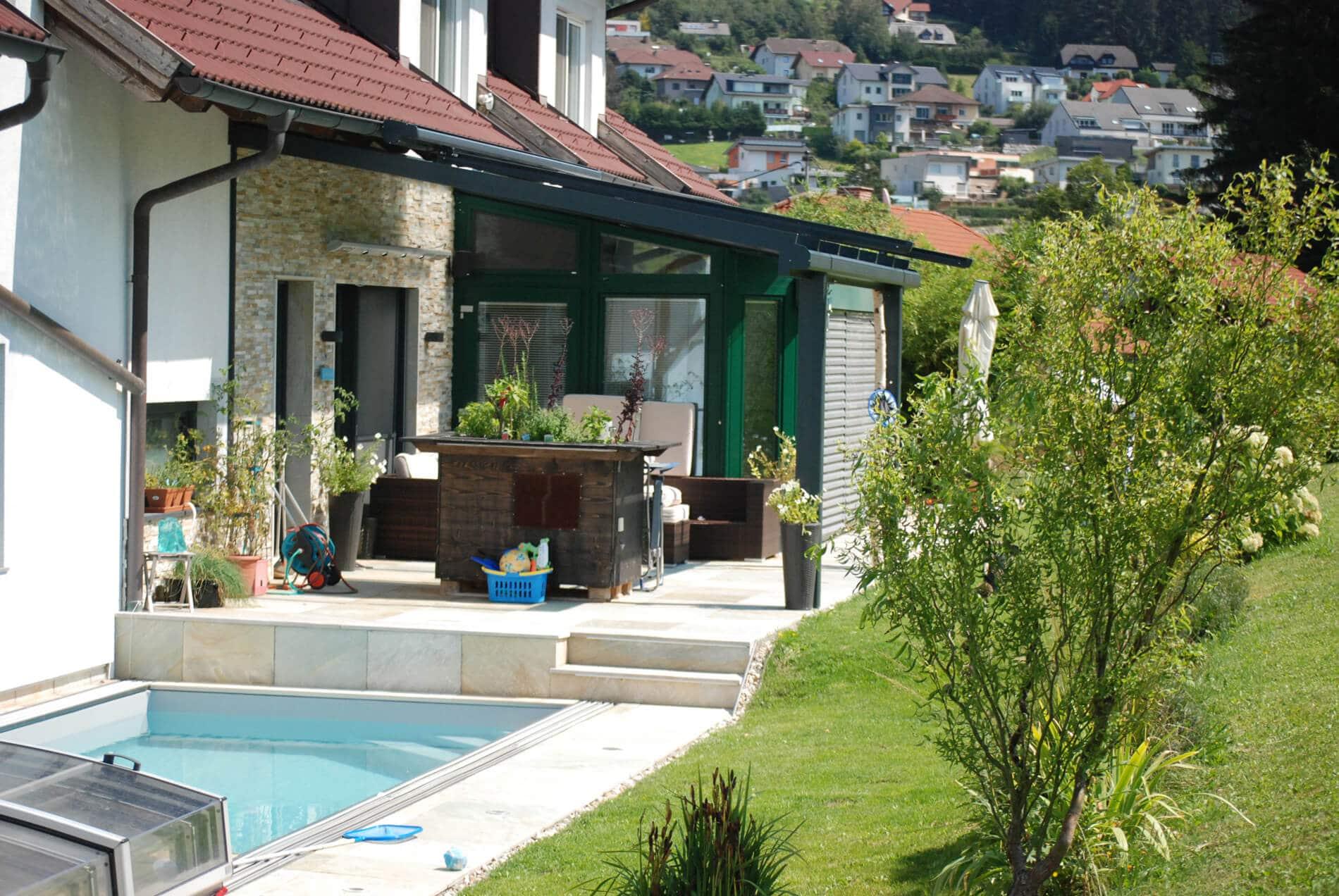 Terrassendächer nach Maß RAL 7016 grau anthrazit