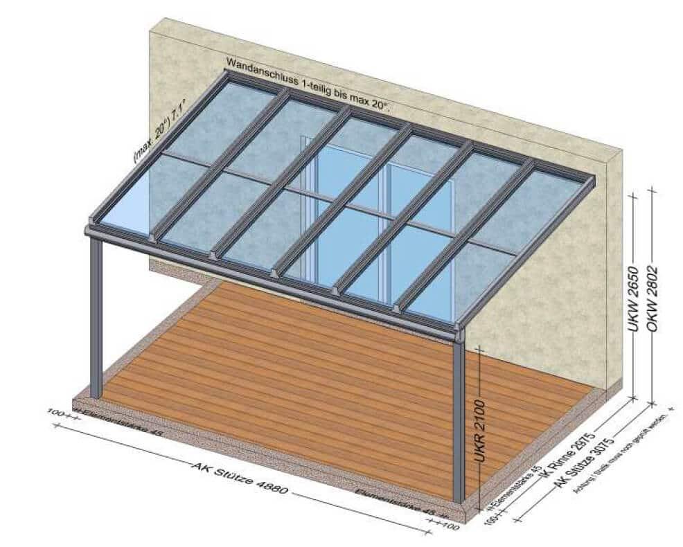 Terrassendächer Aluminium Glas - Planung Österreich