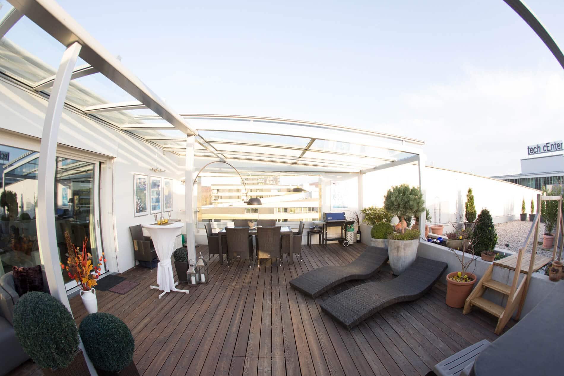Terrassendächer Glas Dachterrasse Linz Oberösterreich