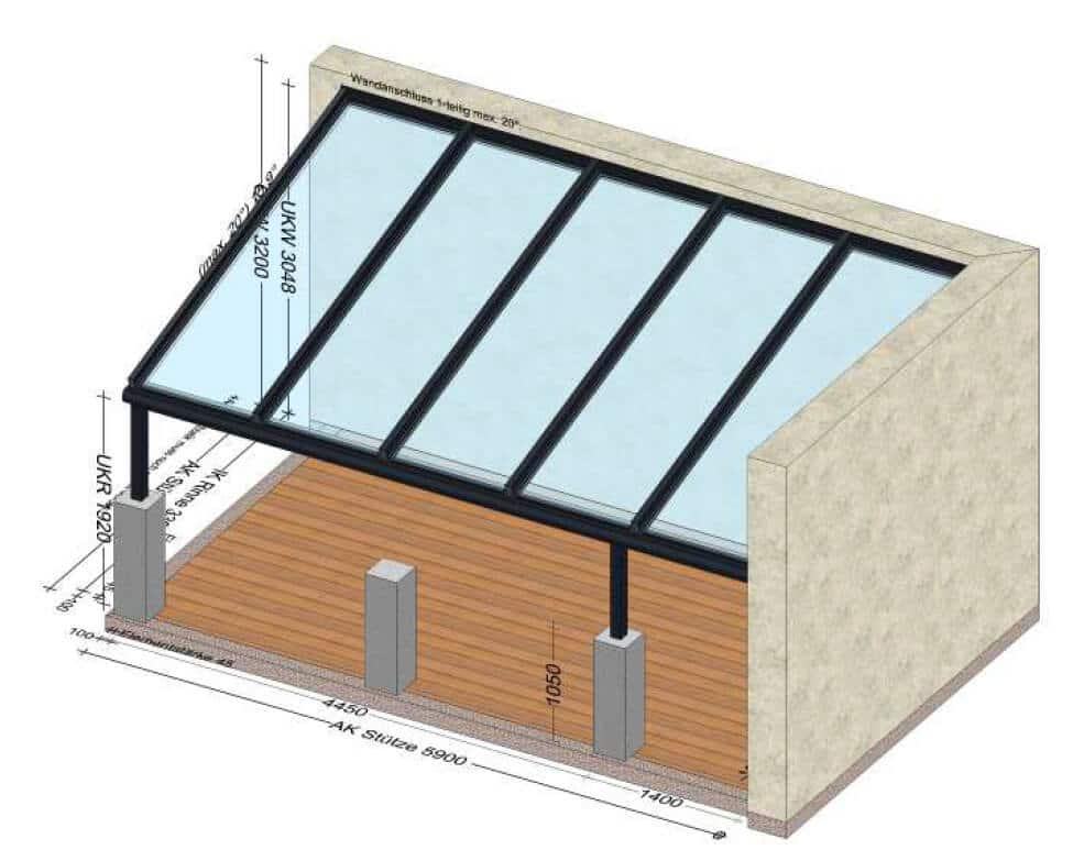 Terrassendächer mit Sicherheitsglas - Alukonstruktion nach Maß