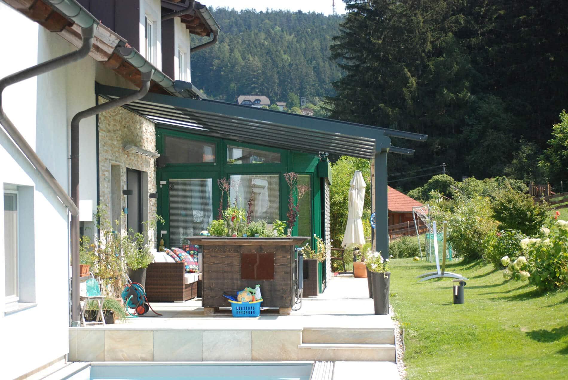 Terrassendächer Wetterschutz 7016 RAL