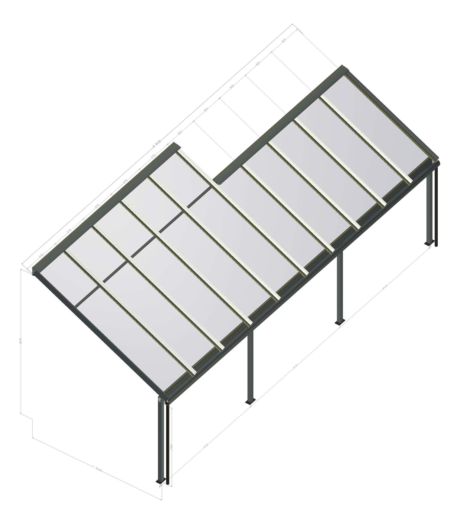 Terrassenglasdächer Aluminium