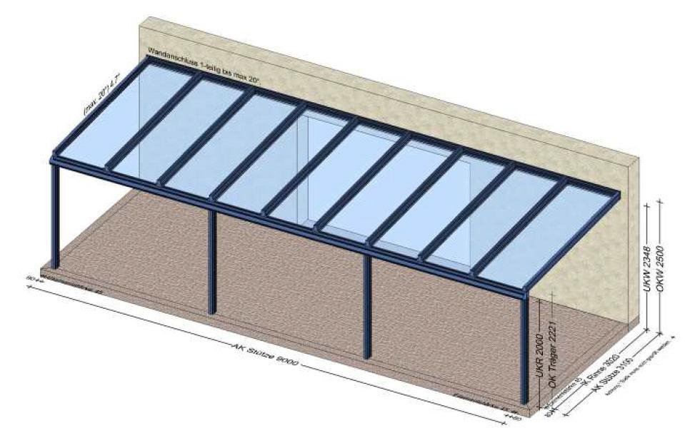 Terrassenüberdachung Planung in 4303 St. Pantaleon