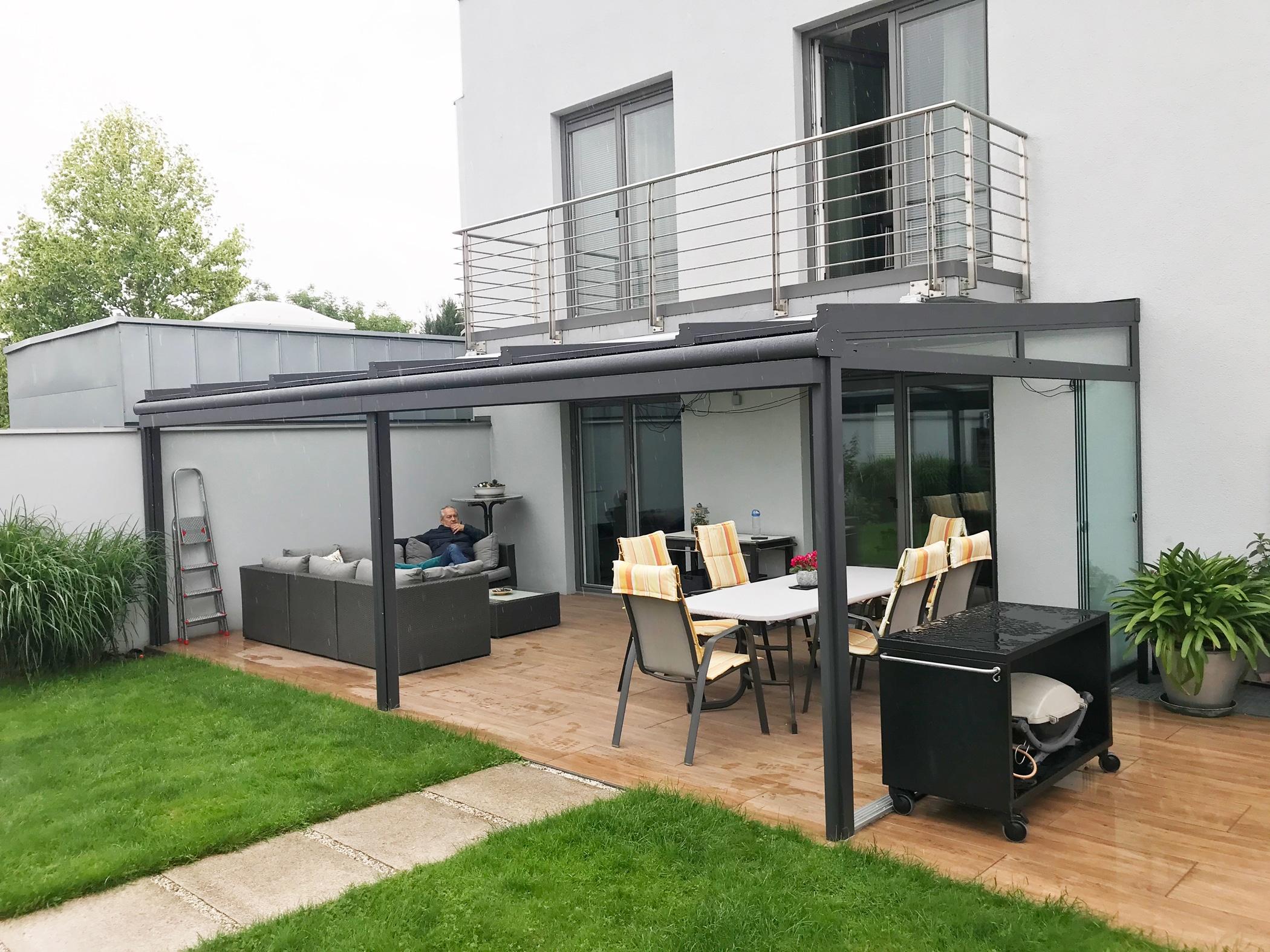 Terrassenüberdachung Alu Glas nach Maß