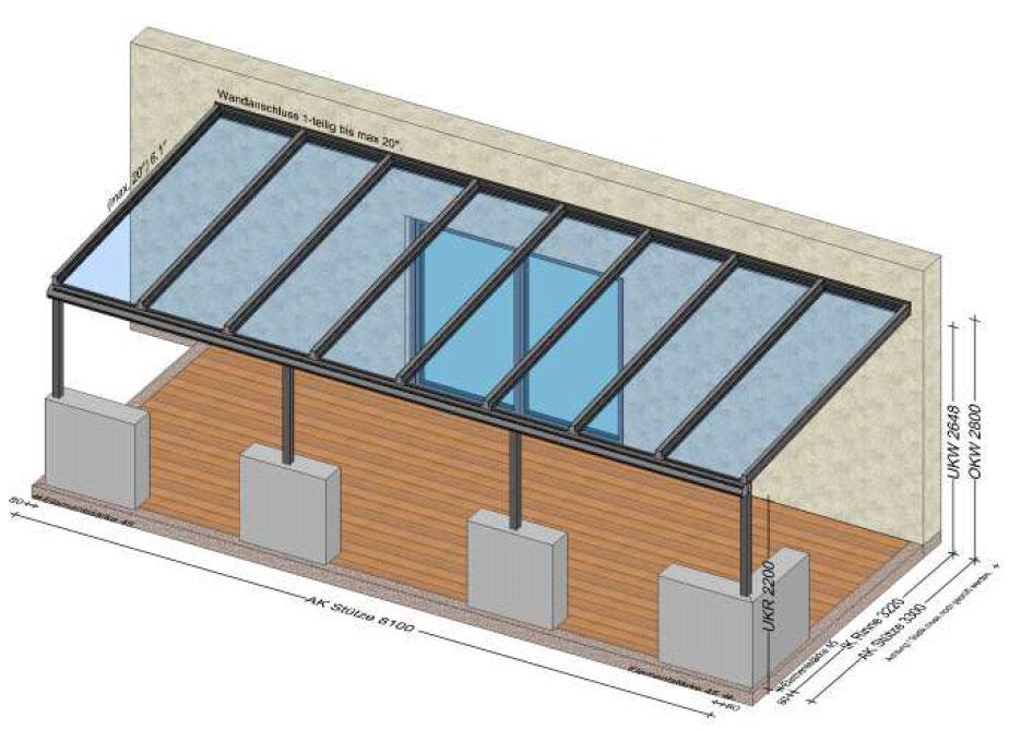 Terrassenüberdachung Aluminium in Bad Ischl/OÖ