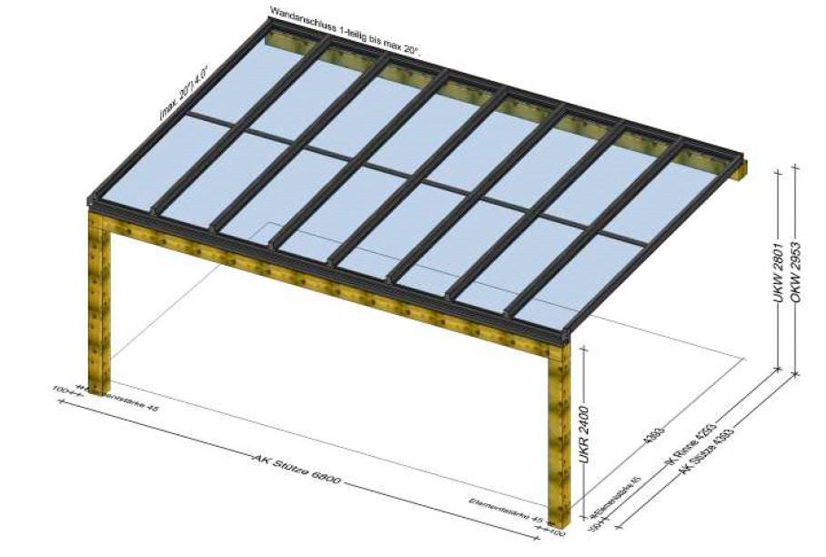 Terrassenüberdachung auf bestehender Konstruktion