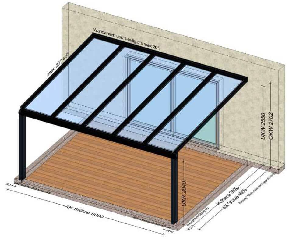 Terrassenüberdachung auf Maß