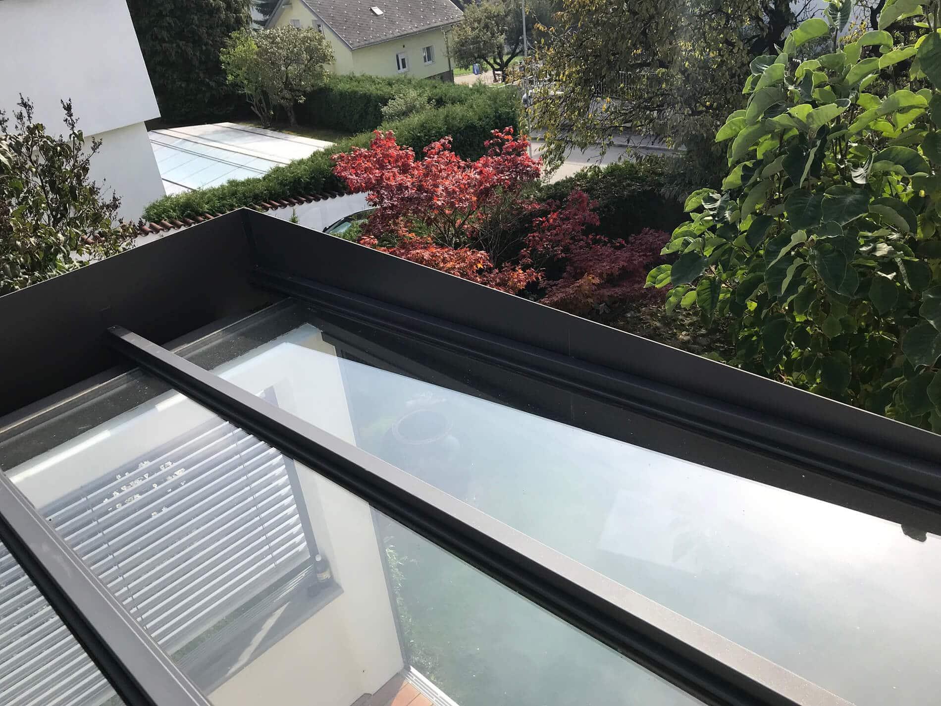 Terrassenüberdachung Flachdach modern