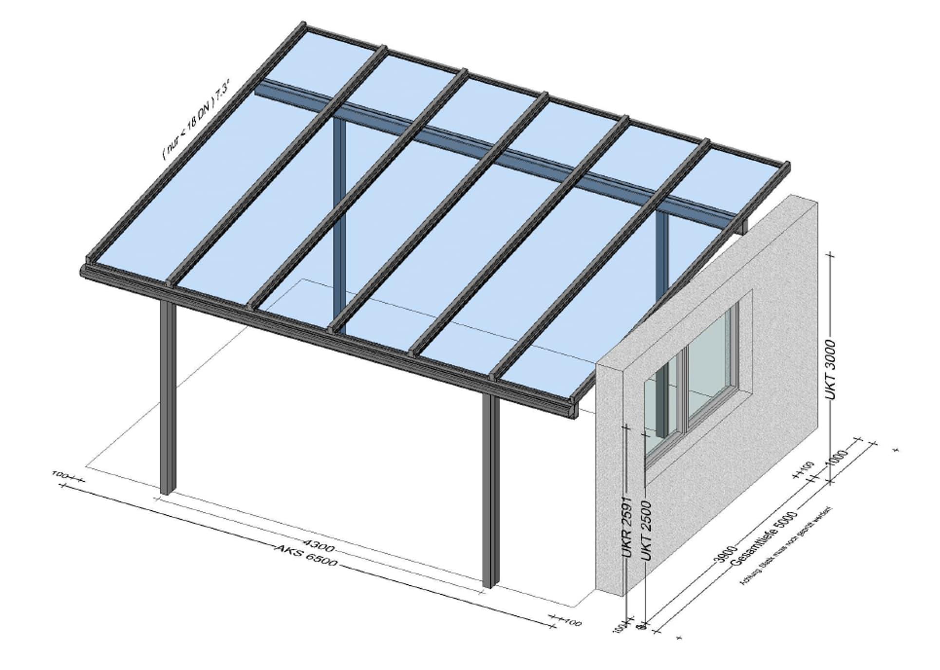 Terrassenüberdachung freistehend - individuell nach Maß