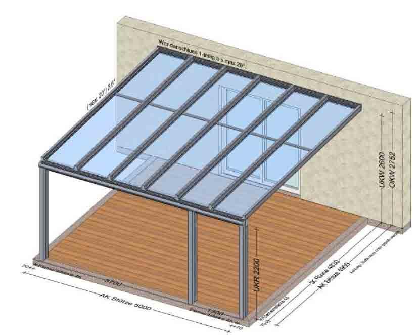 Terrassenüberdachung Herstellung