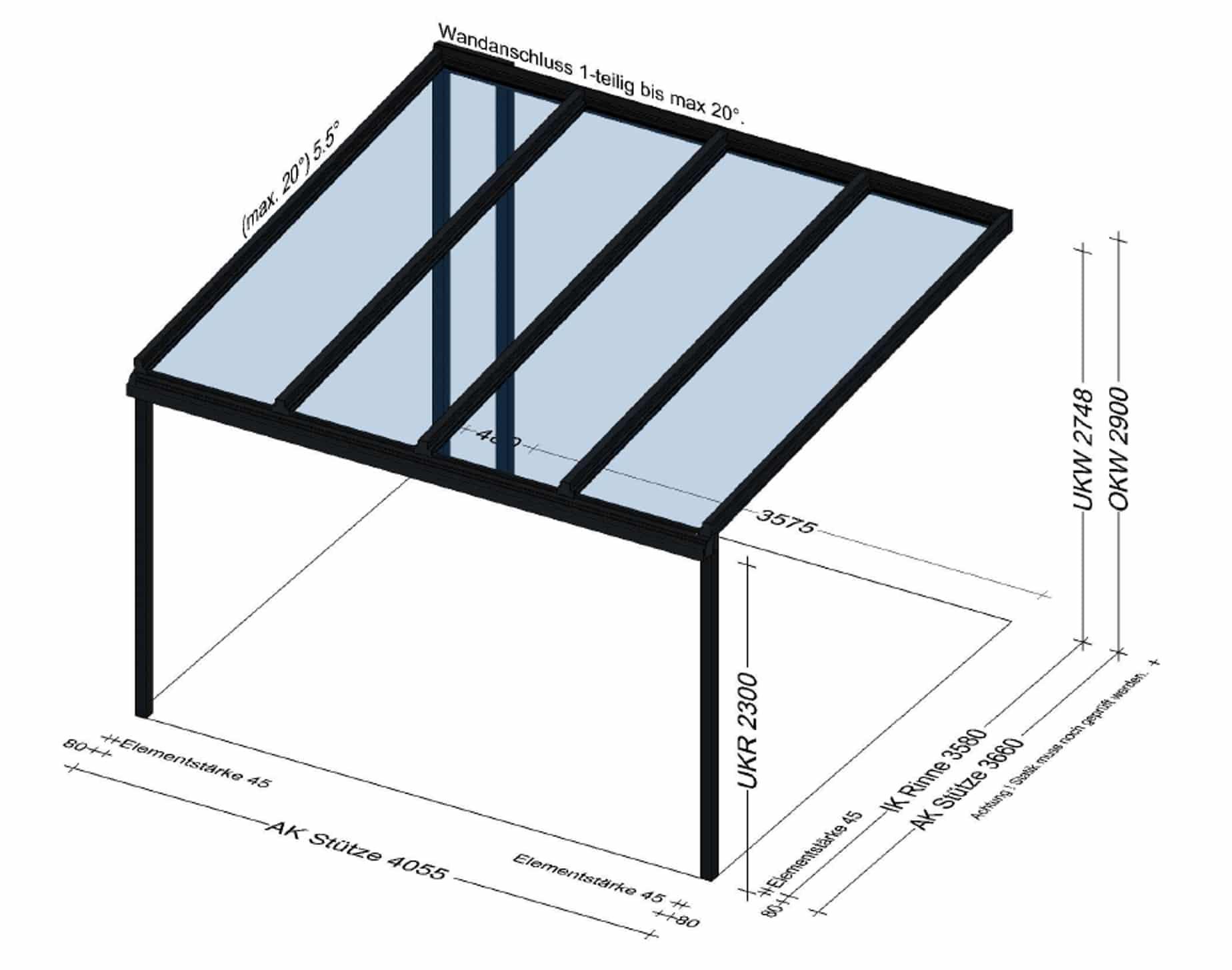 Terrassenüberdaching in Fischlham - Planung