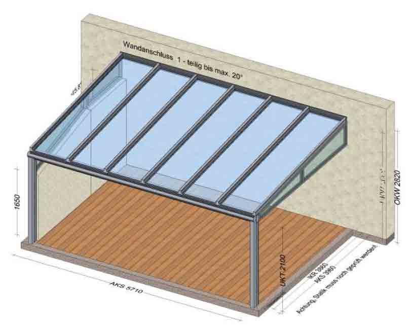 Terrassenüberdachung Metall