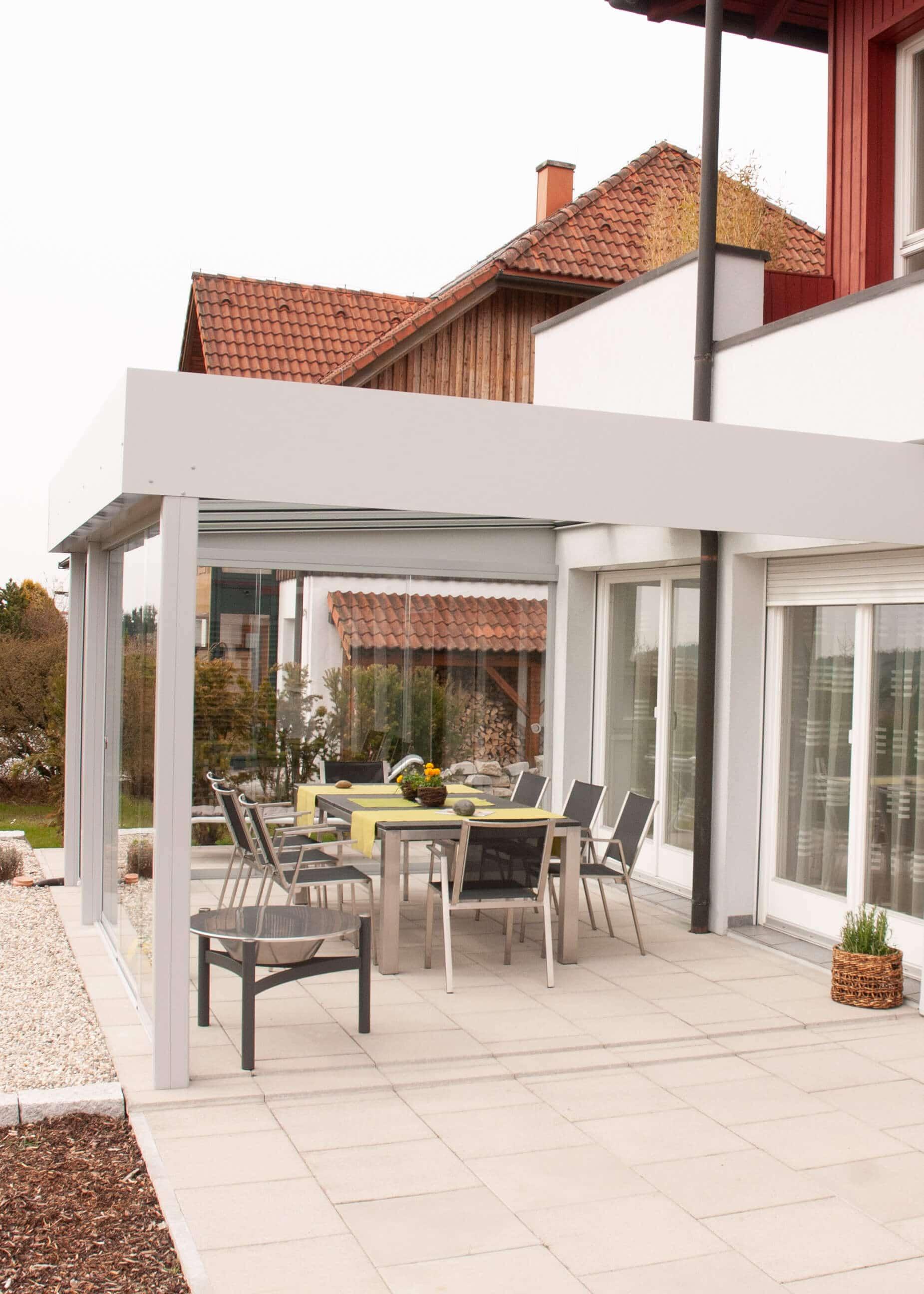 Terrassenüberdachung moderne Optik