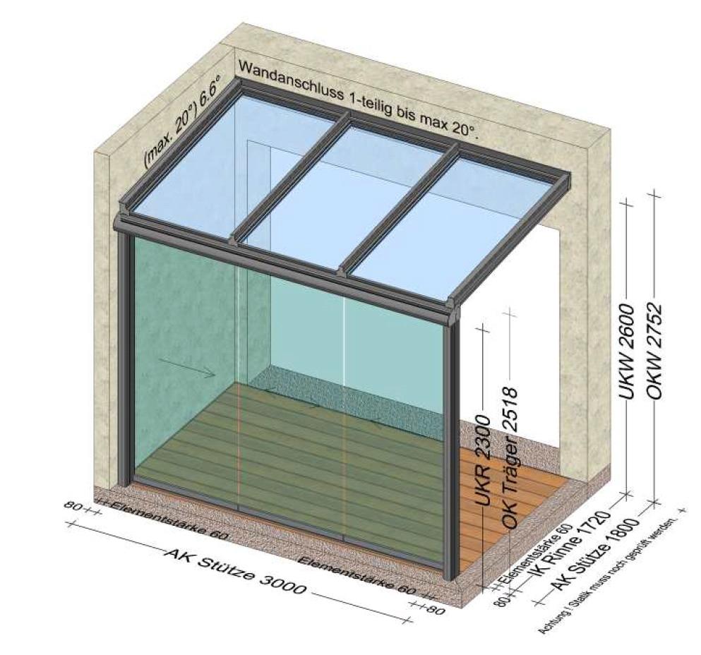 Terrassenüberdachung Planung in 4261 Rainbach