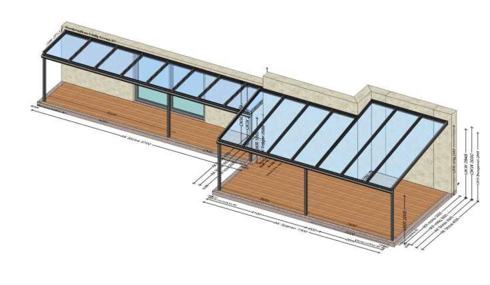 Terrassenüberdachung Planung in 4663 Laakirchen