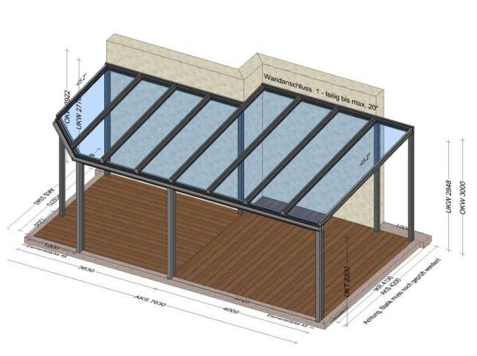 Terrassenüberdachung Planung in Kremsmünster