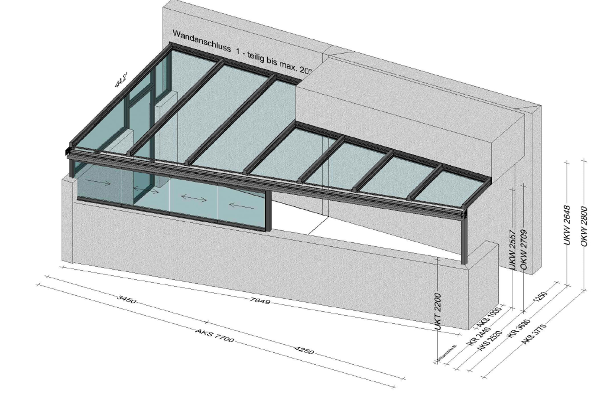 Terrassenüberdachung Sonderanfertigung Oberoesterreich