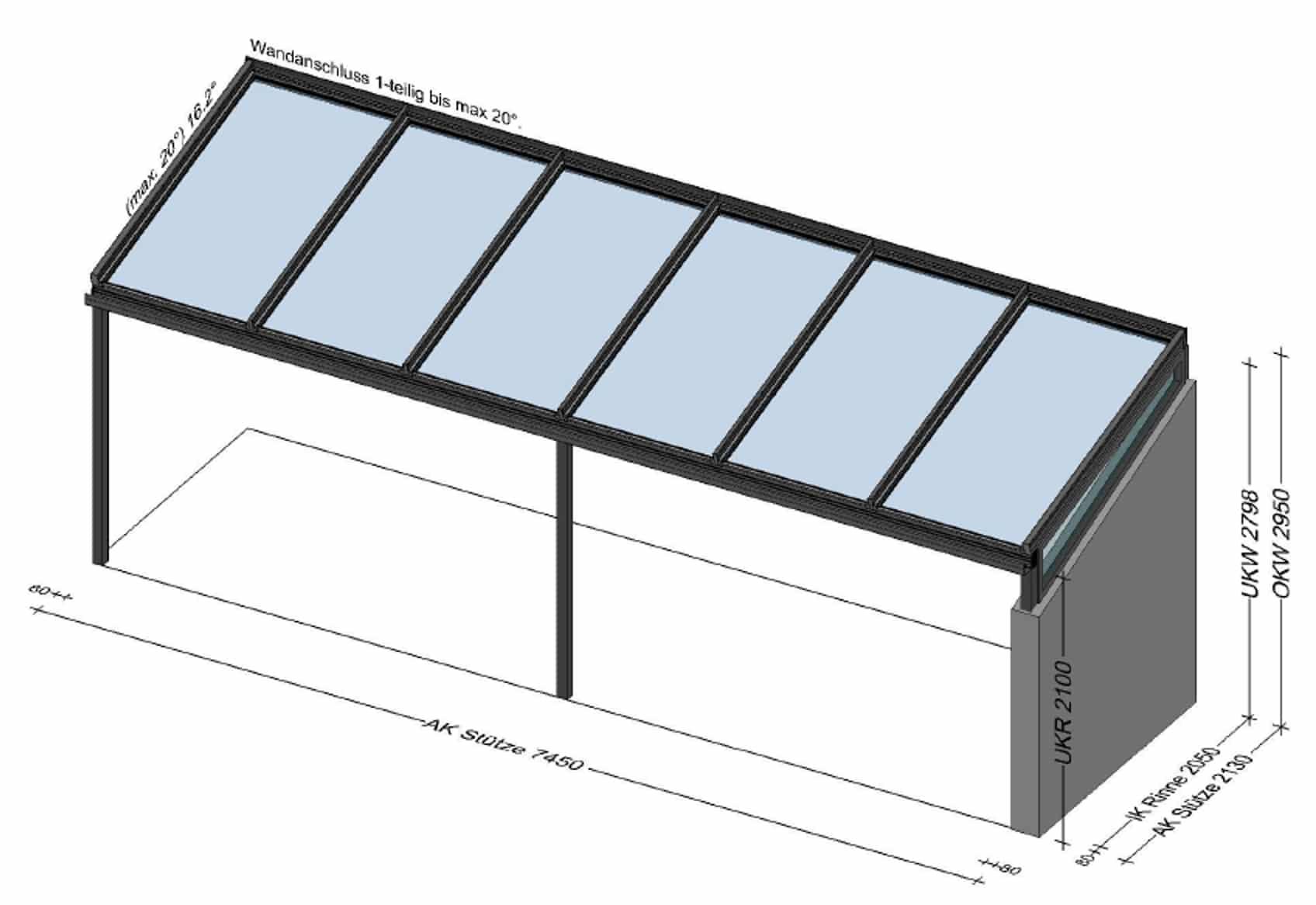 Terrassenüberdachung über 7 Meter - Planung BV Weigetschlag