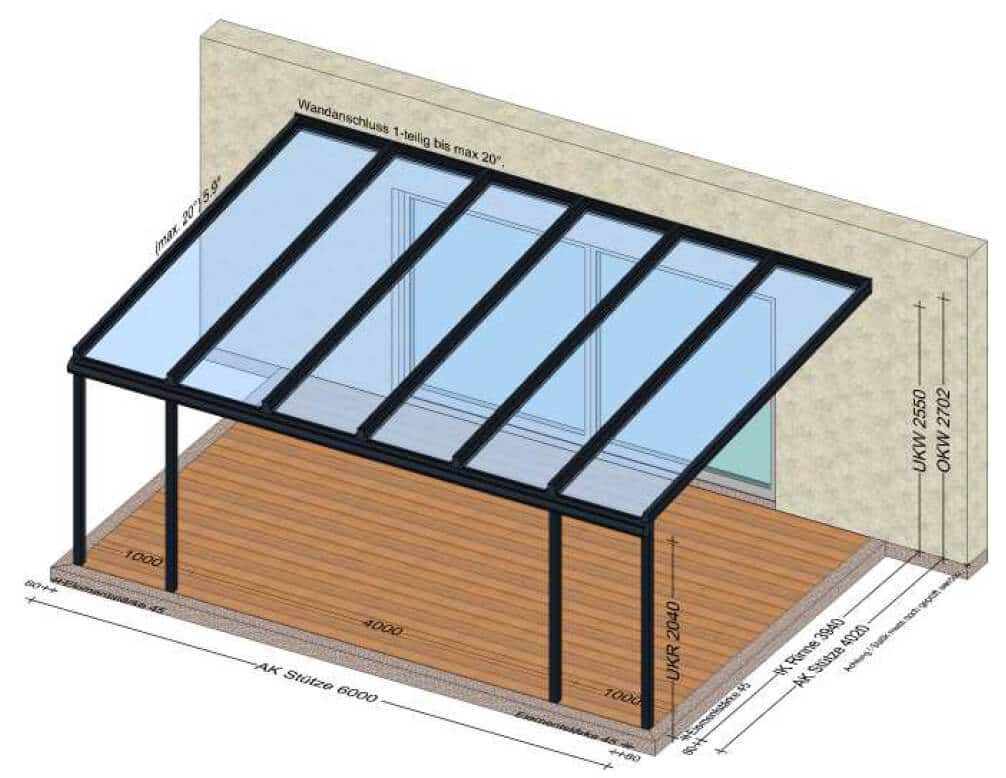 Terrassenüberdachung VSG