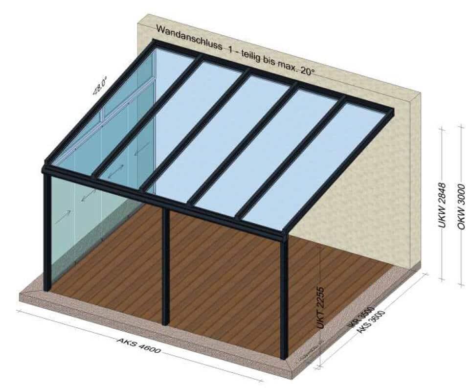 Terrassenüberdachungen mit Seitenverglasungen in Oberösterreich
