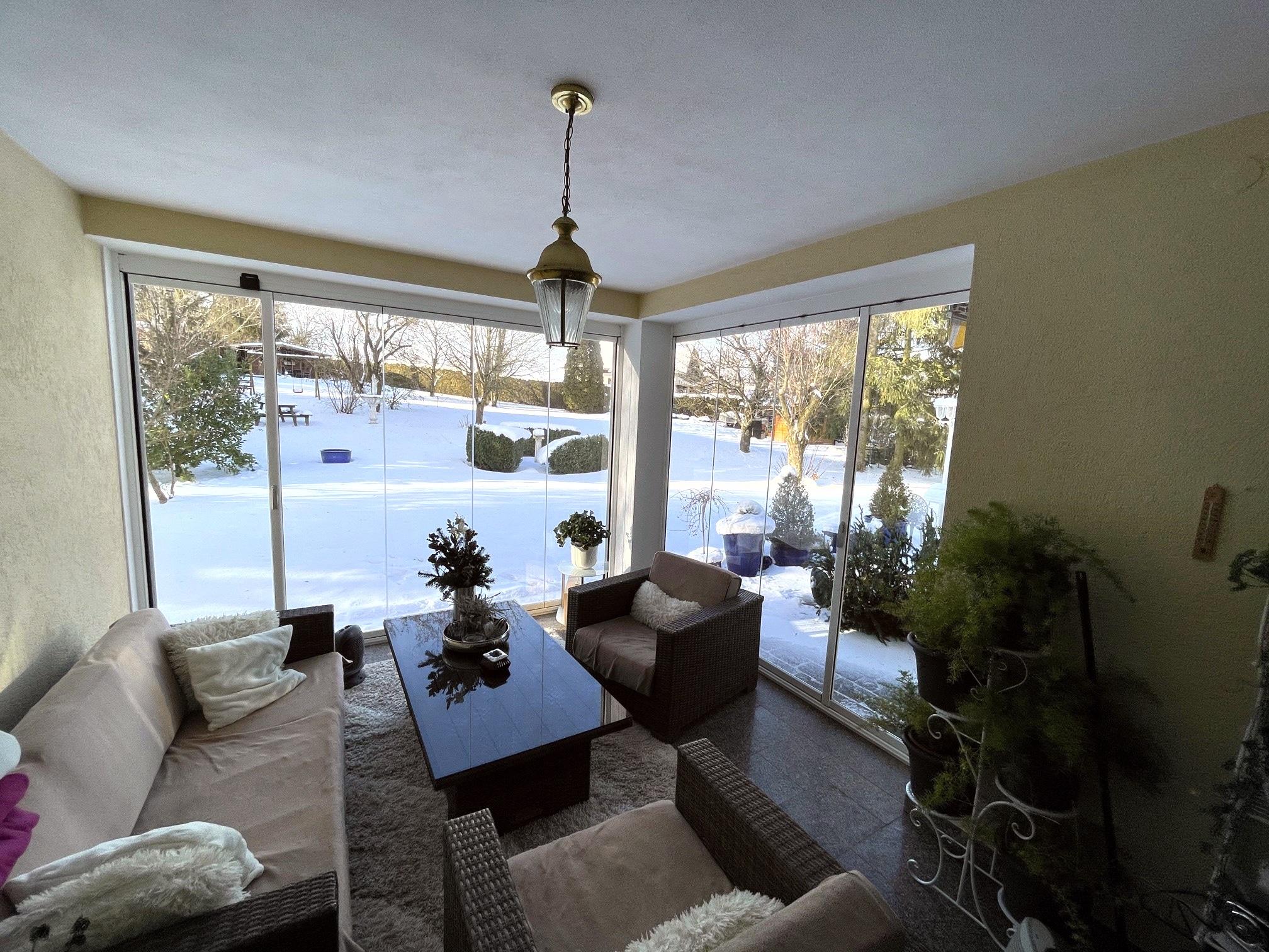 Terrassenverbau Glas von Sunflex