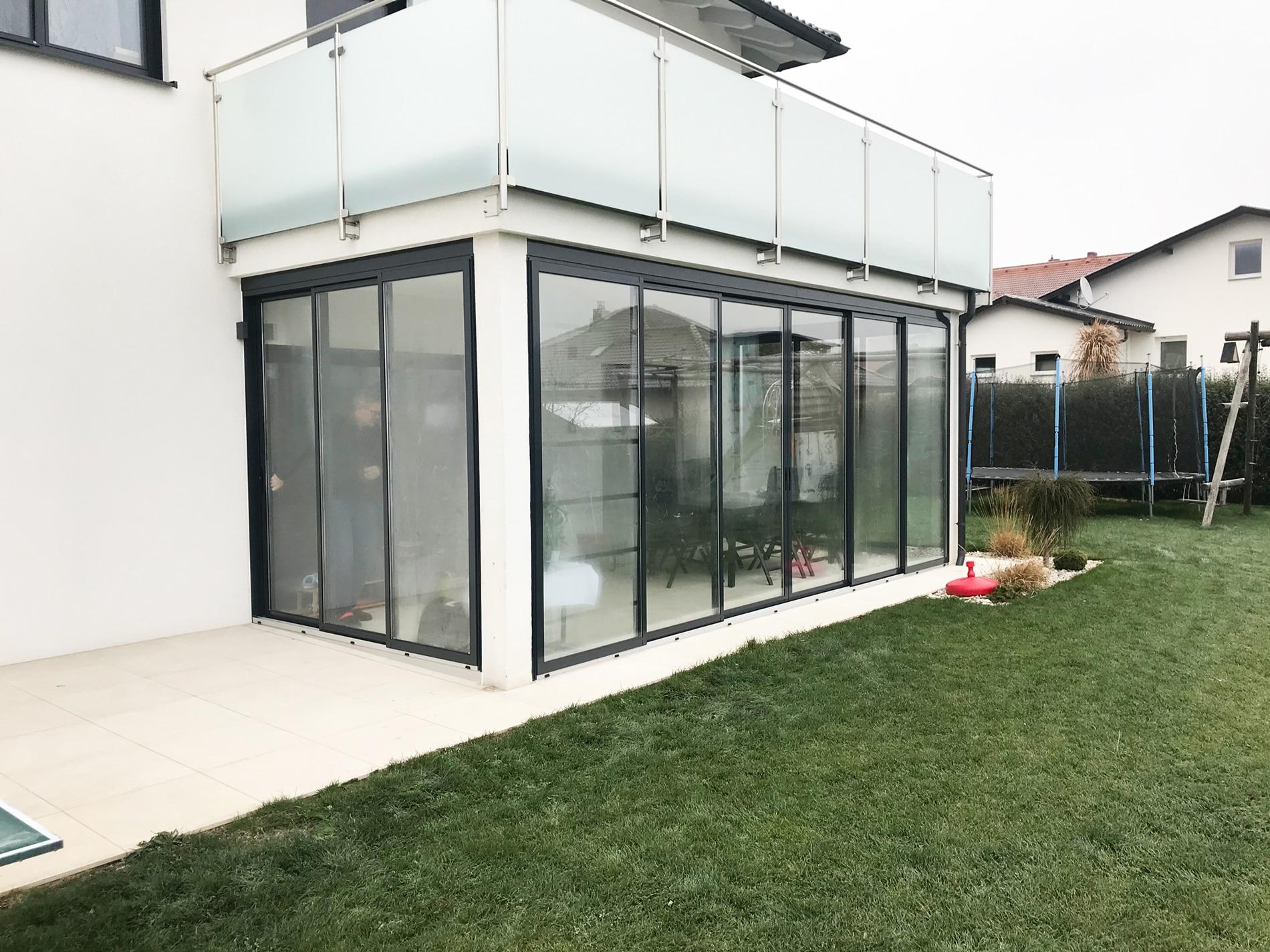 Terrassenverbau Schiebetüren im Bezirk Freistadt