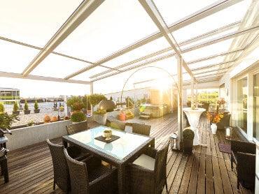 Terrassenverglasung Dachterrasse