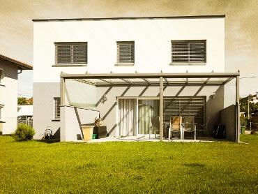 Terrassenverglasung Reihenhaus