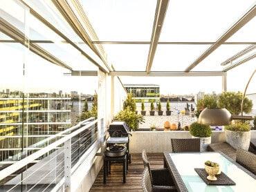 Terrassenverglasung mit Schiebewand