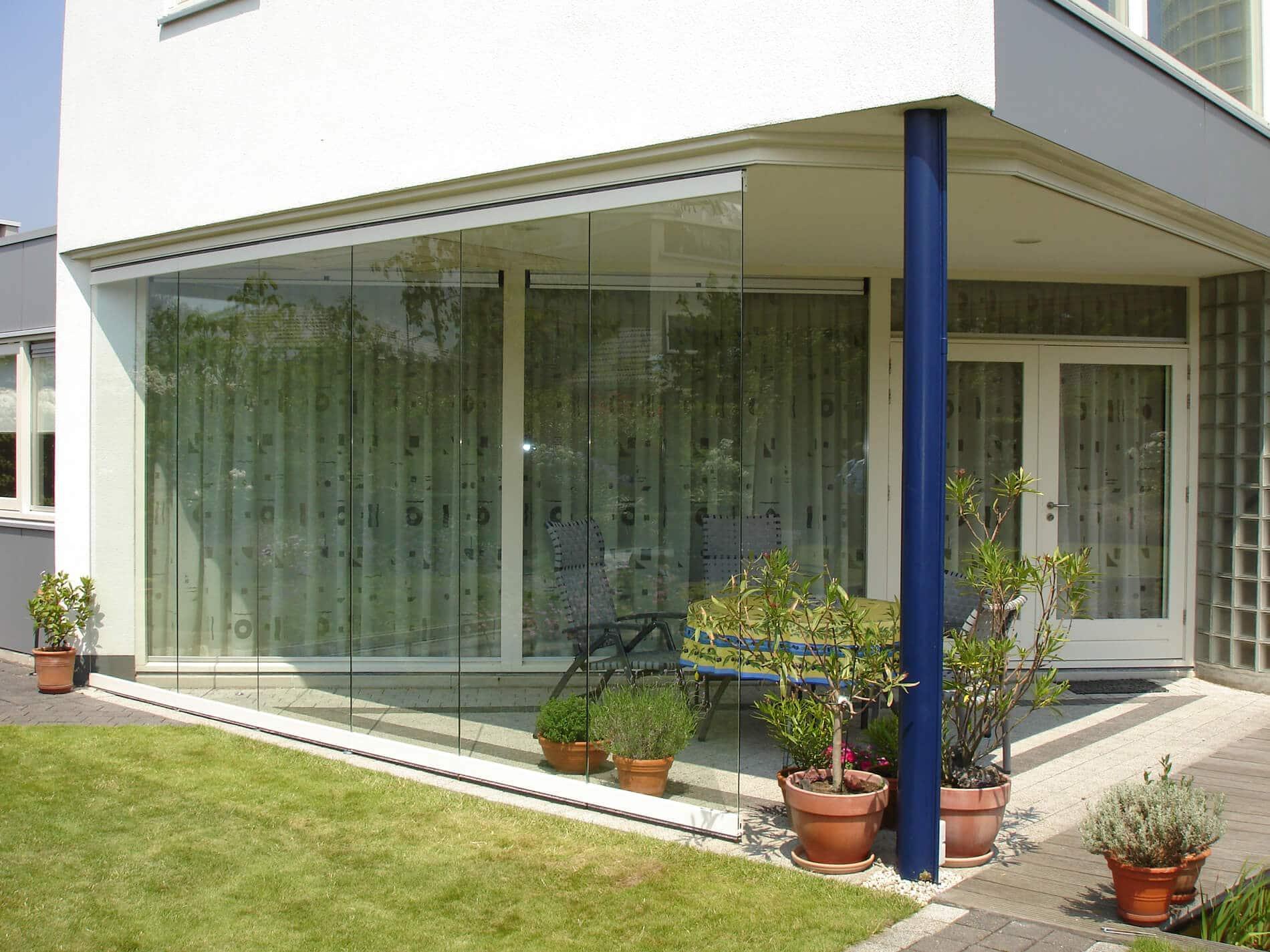 Terrassenverglasung mit Horizontal-Schiebewand