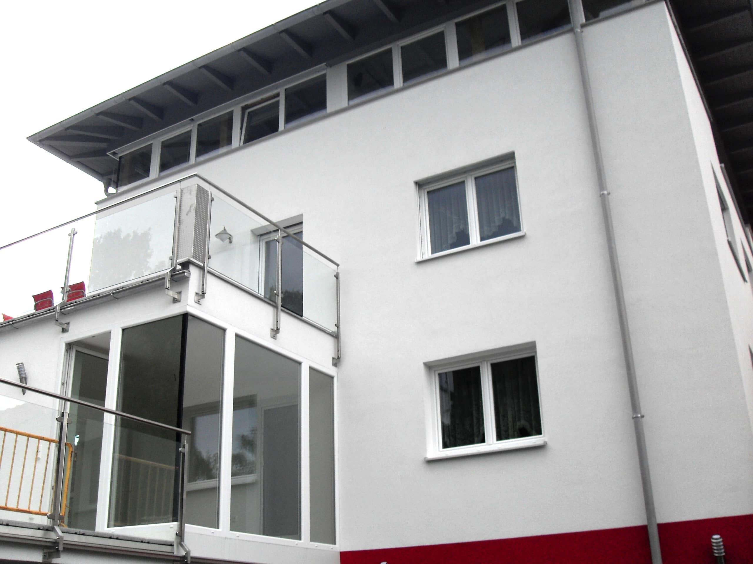 Terrassenverglasung mit Nurglas Eck
