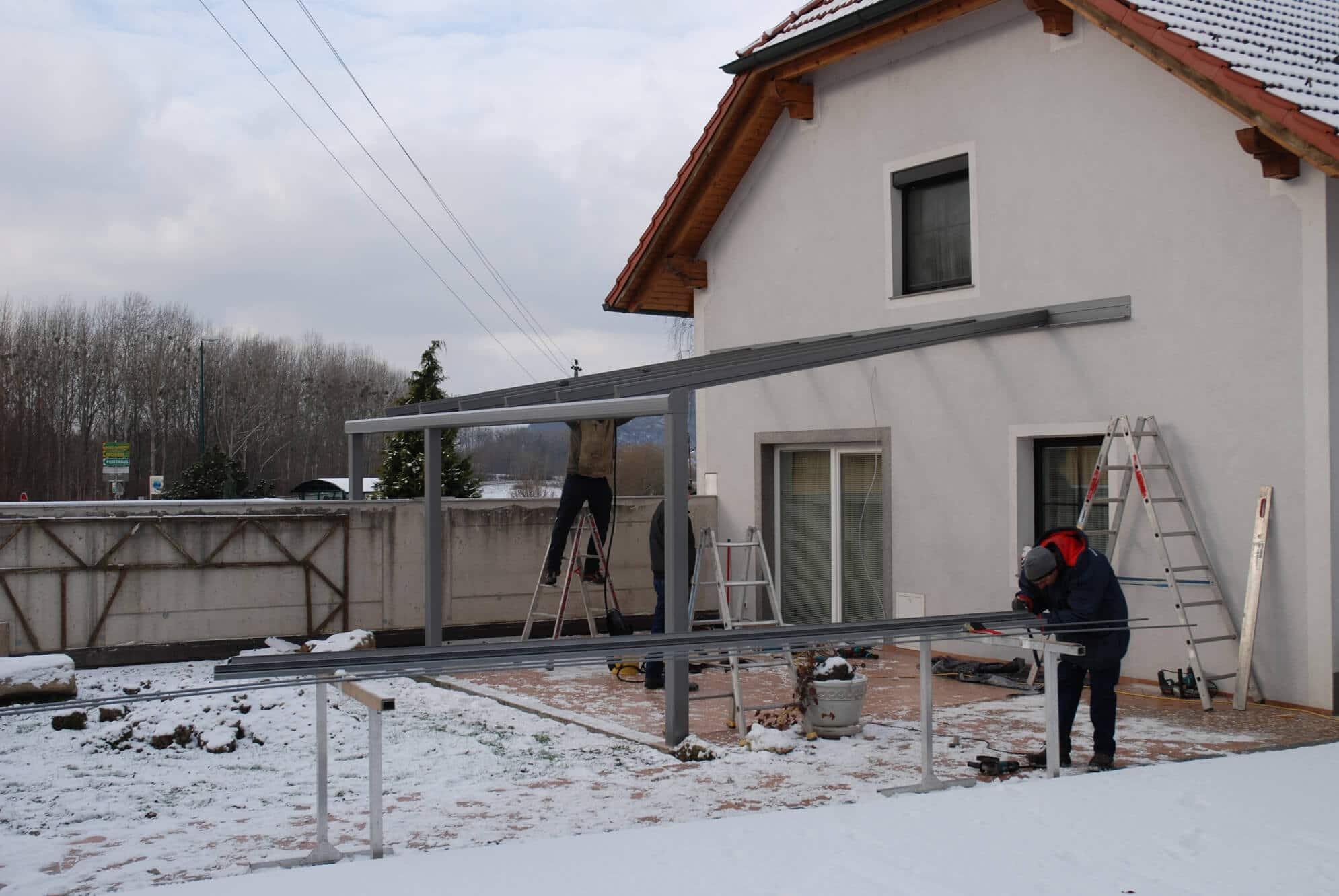Terrassenverglasung Montage