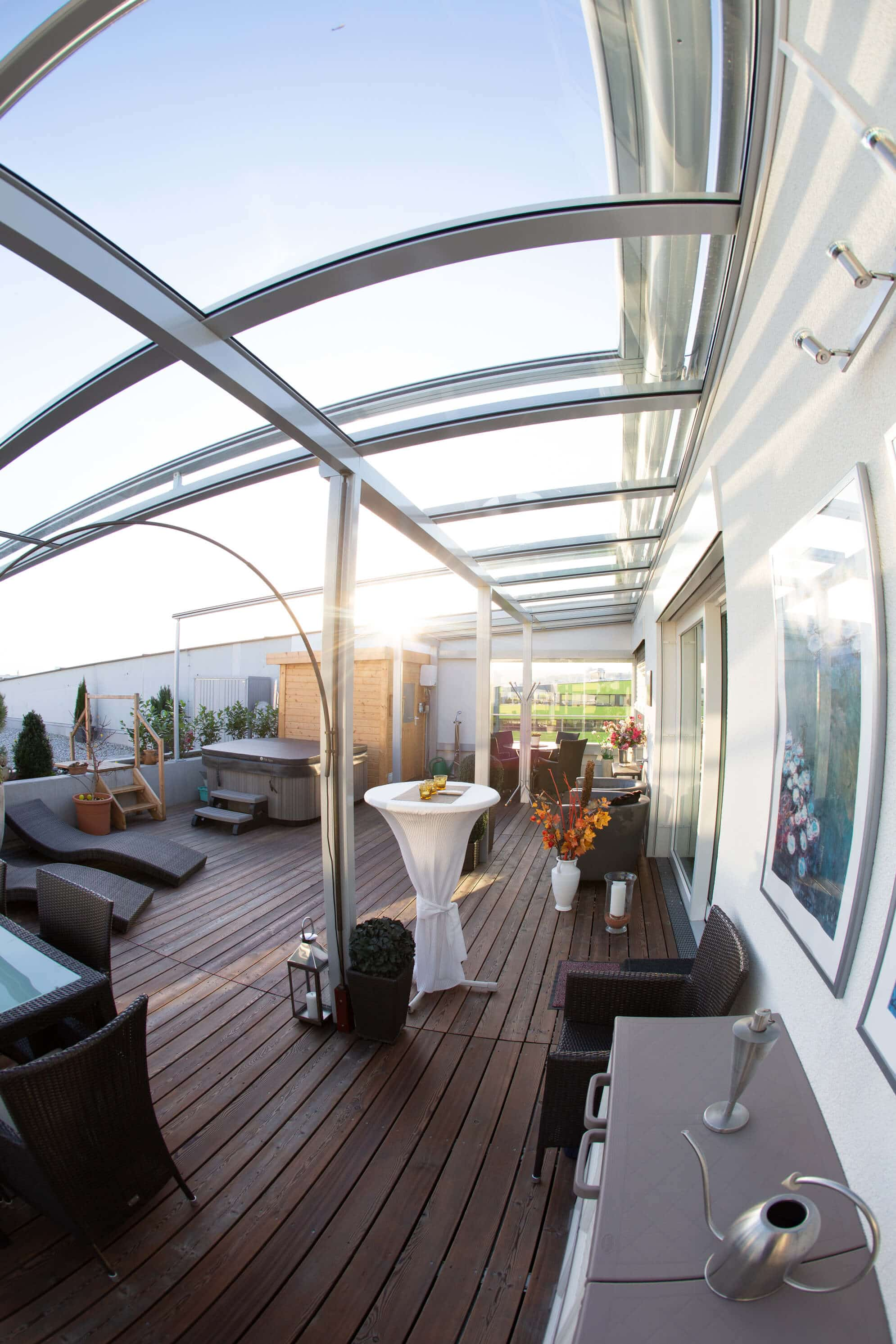 berdachte terrasse alu glas wintergarten schmidinger. Black Bedroom Furniture Sets. Home Design Ideas