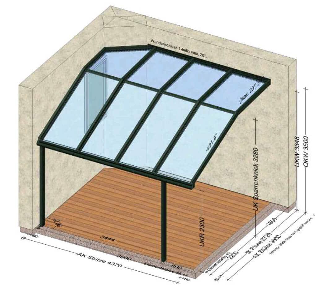 Überdachung mit Glas Österreich