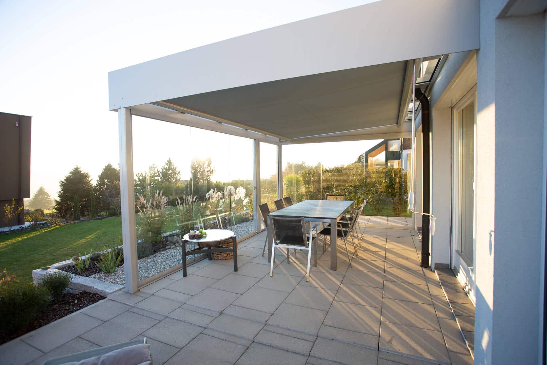 Überdachung Terrasse mit Seitenteile