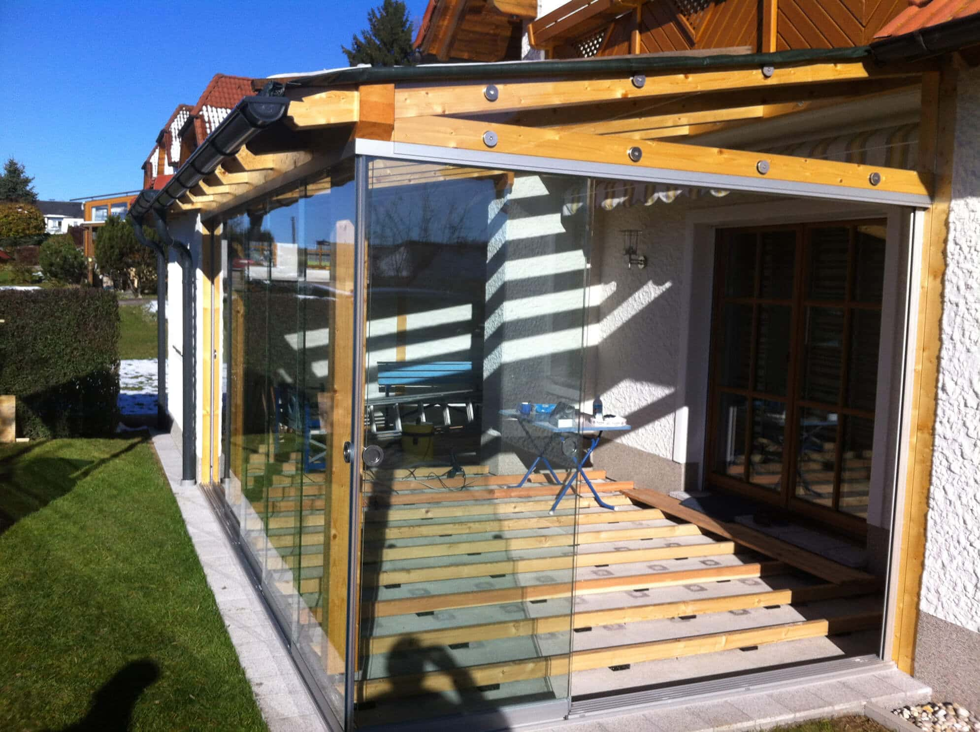 berdachung terrasse schiebew nde wintergarten schmidinger. Black Bedroom Furniture Sets. Home Design Ideas